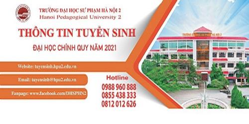 Thông tin tuyển sinh của Trường ĐHSP Hà Nội 2 năm 2021